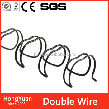 "1/2"" 12.7mm Pitch: 9:16 Black a4 double loop binding wire for book , calendar"