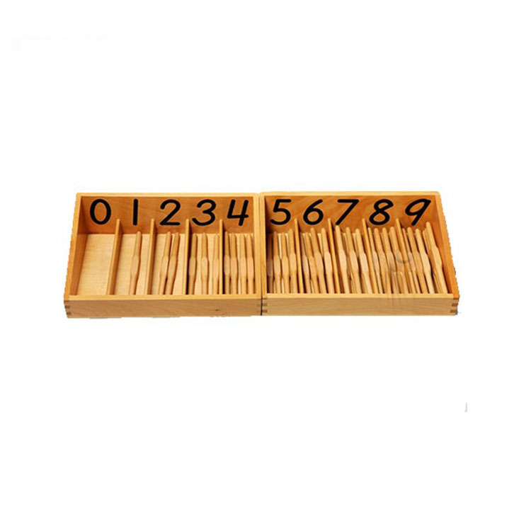 Montessori Materials Teaching Aids Spindle Box with 45 Spindles Games Learning Wooden Toys In China