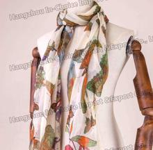 Butterfly printed lady scarf