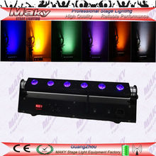 wedding up lighting/mini moving head lights 6pcs*18W RGBWAUV 6in1 Led Stage Light/approved LED wall pack wash flood light