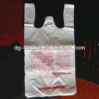 plastic HDPE packing bags on stack for supermarket shopping