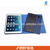 New arrival ultra-thin leather embossed keyboard for mini ipad keyboard case