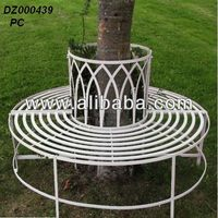 decorative round metalTree Bench for park