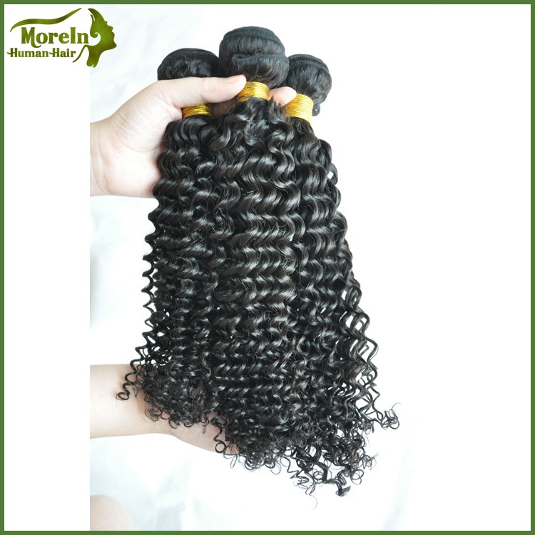 Malaysian human hair extension On sale kinky curl sew in hair weave