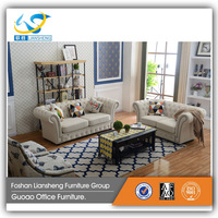 American style living room top grain leather material sofa set hiah quality comfortable leisure sofa set