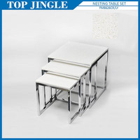 3pcs/set Square Shape Concrete Nest Adjustable Tables