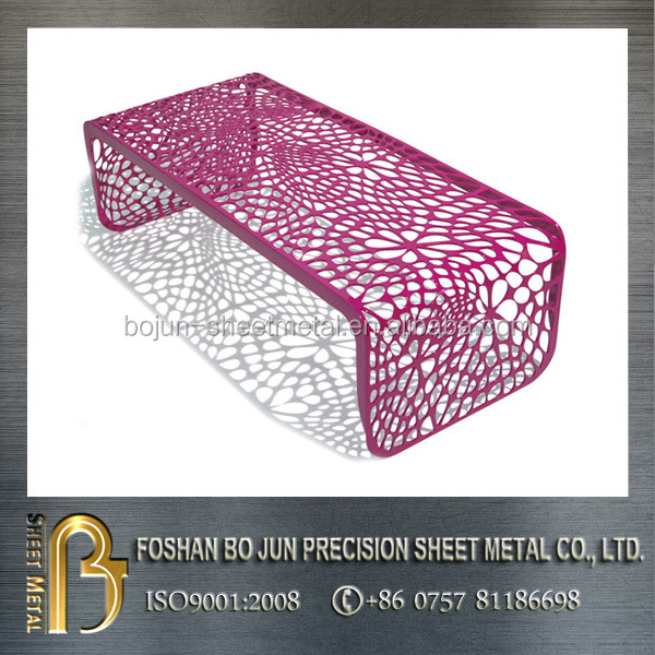 China supplier new product custom laser cut wrought chair with powder coating
