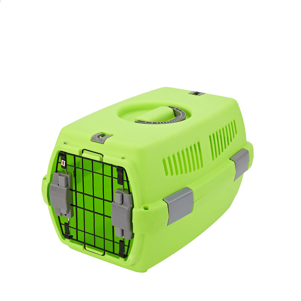 Pet products animal transport boxes plastic dog cat kennel cage