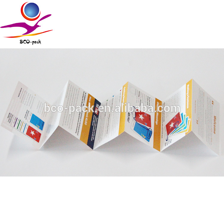 Brochure printing products instructions book folded leaflet