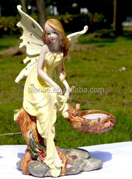 custom resin angel candel holder for angel style