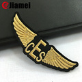 Custom Raised Gold Blazer plastic pilot wings patch