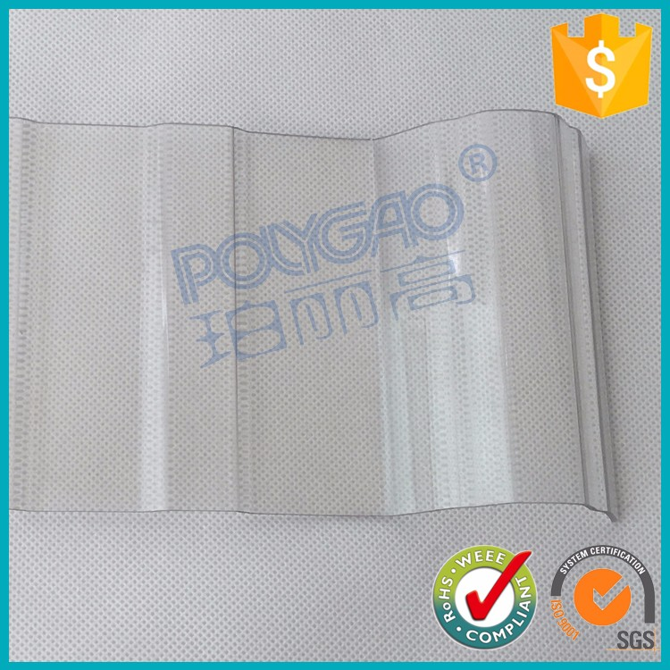 PC transparent polycarbonate corrugated plastic roofing sheet for greenhouse