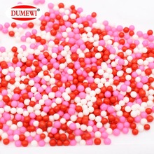 Red Pink White Edible Cake Decoration Mini Candy Sprinkles
