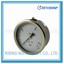 EN837-1 Stainless steel laser welding oil filled pressure gauge