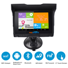 Android 5 inch waterproof IPX5 LCD WIFI 512M RAM 8GB Flash GPS Navigation for car motorcycle