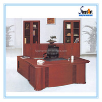Modern glass top office table design wooden office director table with chair