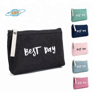 Cosmetics manufacturing companies canvas cosmetic bag makeup storage pouch