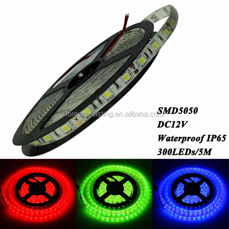 LED 12V Flex Strip Light RGB 3/7 Color Waterproof 5050 3 in 1 chip