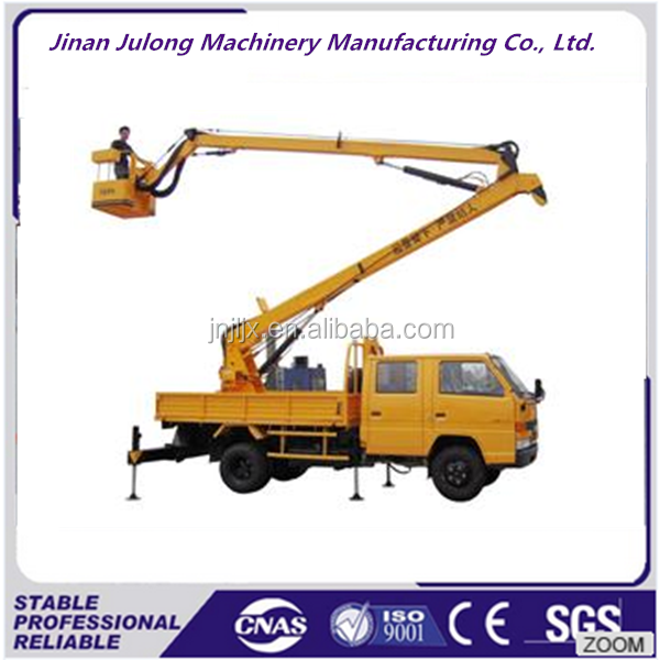 Truck mounted crank arm work platform mobile boom lift CE