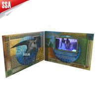 "2013 2.4"", 2.8"", 3.5"", 4.3"", 7"" greeting video card, TFT LCD screen greeting video cards for Christmas"