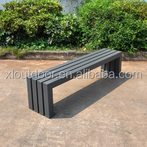 Outdoor furniture street metal bench