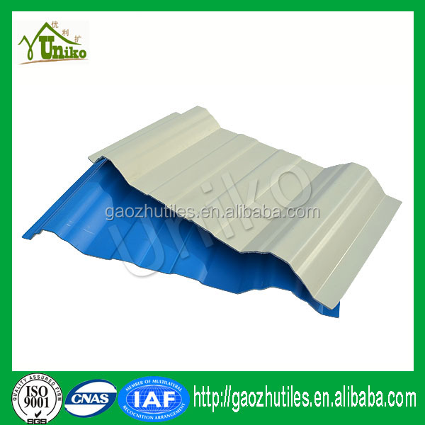 Plastic shape tile price of roofing sheet in kerala/industrial shed designs pvc roof tile