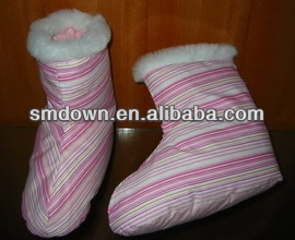 good quality and reasonable price down and feather slipper