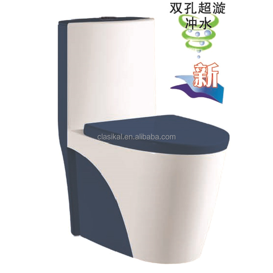 Hottest color sanitary ware one piece ceramic American toilet