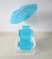 Factory cheap item to sell kids folding beach chair with umbrella