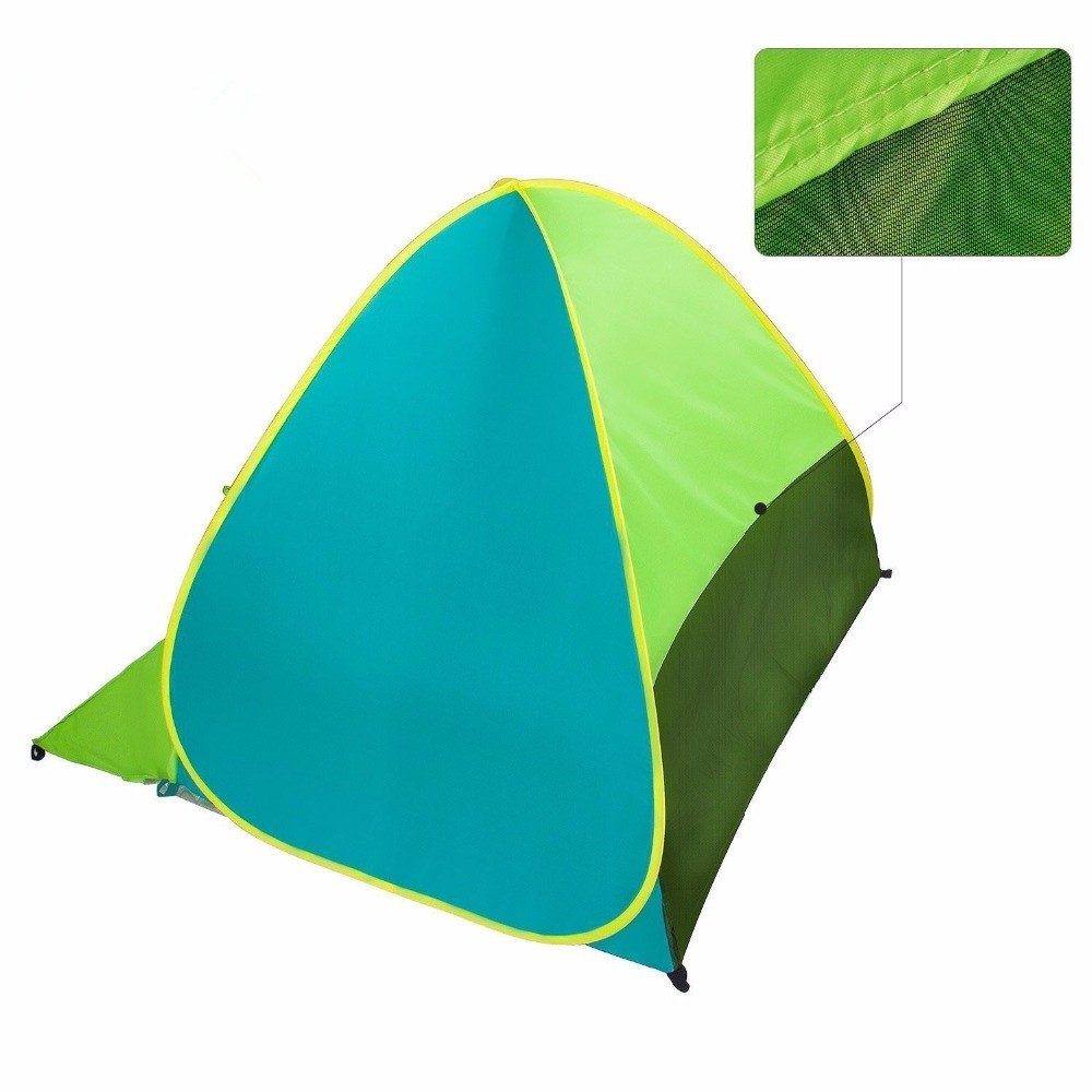 Pop Up Beach Tent Camping Sun Shelter Outdoor Automatic Cabana 2-3 Person Fishing Anti UV Beach Tent Beach