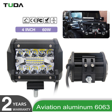 Cheap New Aluminum Housing Led Light Bar Off-Road, Car Led Lighting Wholesale 60W 4 Inch Bar Light