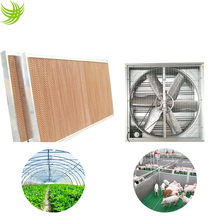 Honeycomb cooling pad Exhaust fan greenhouse cooling system