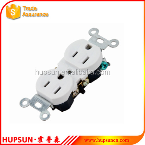 New shop 15A 125V white American style universal electrical wall outlet