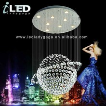 2014 Most beautiful Planet K9 ball shape crystal chandelier for both low ceilling and high ceilling