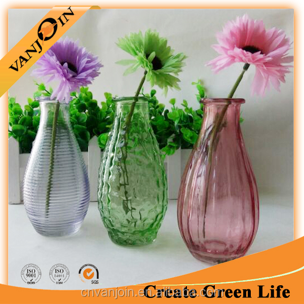240ml Colorful Air Freshener Diffuser Glass Bottle With Plastic Flower For Home Decoration