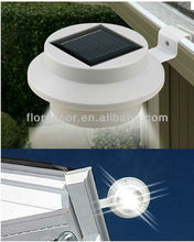 3 LED Solar Powered Fence Gutter Light Outdoor Garden Yard Wall Pathway LampGutter Solar Powered with Switch Fence Light
