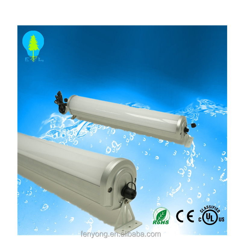 dust proof IP 68 triproof led fixtures 1.2m 60w CE RoHS certified AL+ PC housing