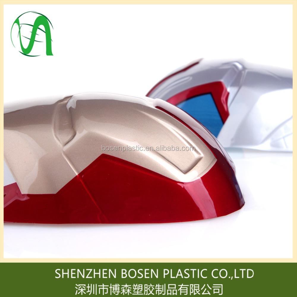 Produce vacuum formed plastic supper hero mask