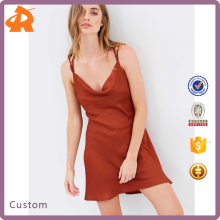 Top Quality Sweet Sexi Nighti Dress Sleep Cowl Neckline Slip Girls Sexy Night Dress