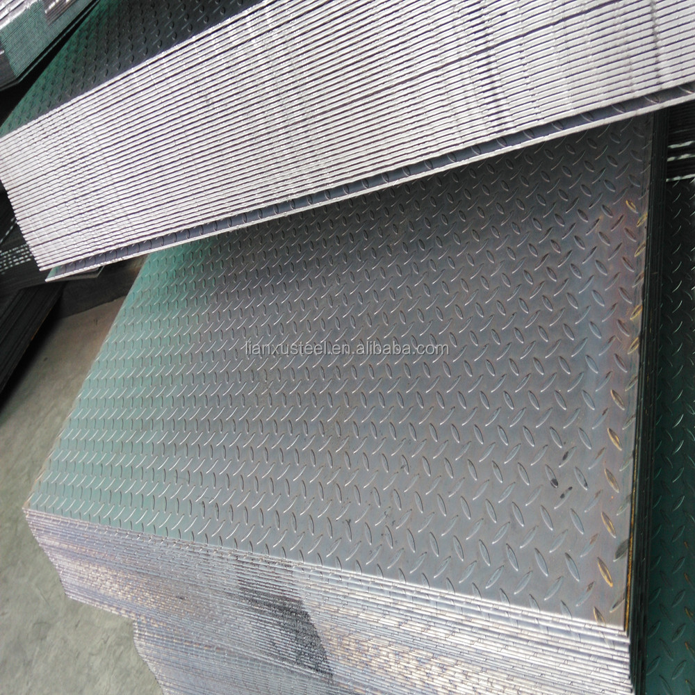 LIANXU SS400 hot rolled carbon mild ms checkered steel plate