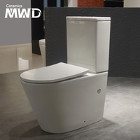 Watermark Rimless Toilet Suite Vitreous china with chrome-plated dual flush buttons