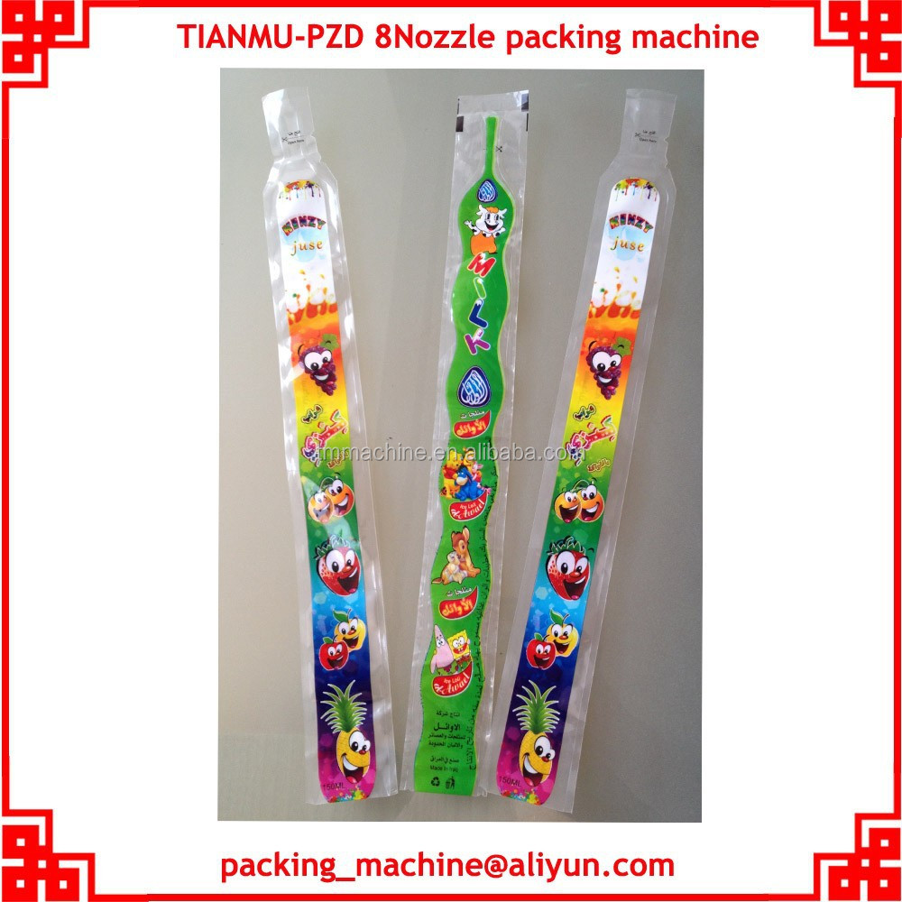 8 nozzles ice lolly filling sealing packing machine