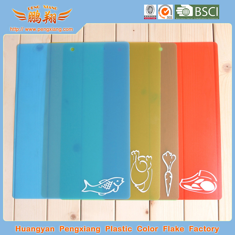 colorful plastic chooping board