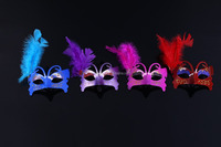 Newest Feather masks / masquerade Halloween mask color / festival performances birthday party supplies