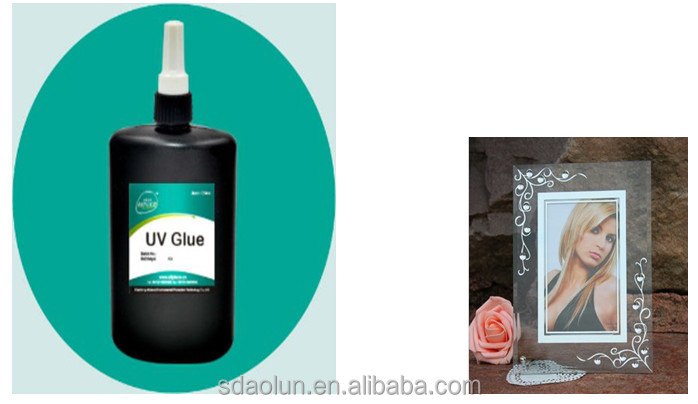 uv glue for glass to photo