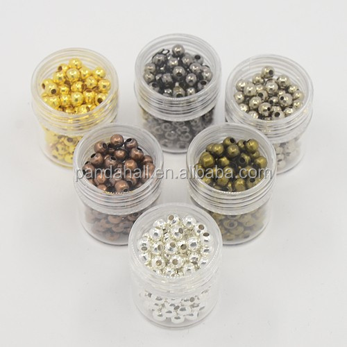 4mm Iron Round Jewelry Findings Box of Spacer Beads Wholesale