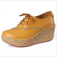 trendy lady casual shoes high heel platform