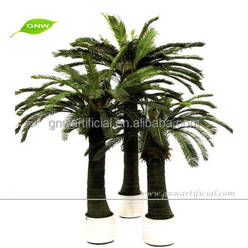 GNW APM045 Artificial Decorative Bonsai Tree Handmade Palm Coconut Trees Garden Landscaping