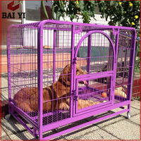 Welded Purple Dog Kennel & Chain Link Dog Cage / Dog House Cage (Direct Sale)