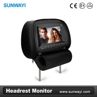 "High quality Resolution 800*480 7"" headrest DVD with DVD,USB,SD Card,Game,IR,FM functions"